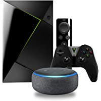 NVIDIA SHIELD TV 16GB Streaming Media Player with Remote & Game Controller + Google Home Mini + Echo Dot (3rd Gen) Speaker