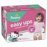 Pampers Easy Ups Training Girls Underwear, Size 4 2T-3T, 74...