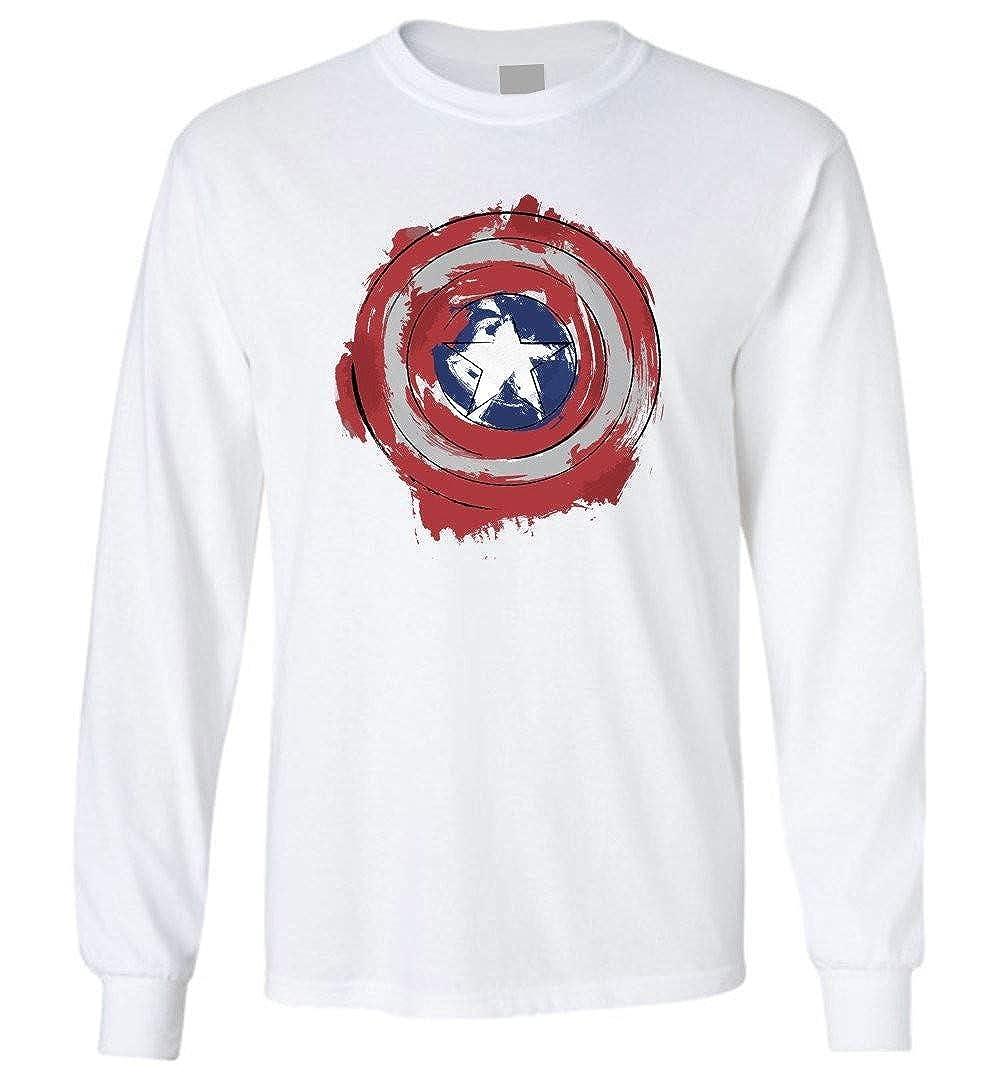 Captain-America Shielf Comic Long Sleeve