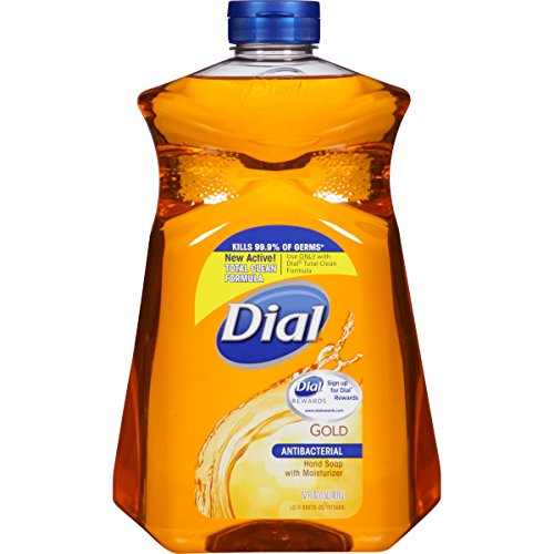 Dial Antibacterial Liquid Hand Soap Refill, Gold, 52 Fluid Ounces (Pack of 6) ()