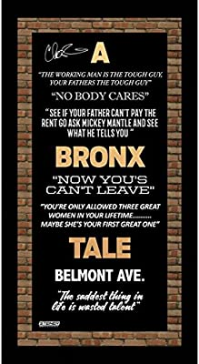 Chazz Palminteri Signed A Bronx Tale Quotes 6x12 Framed ...