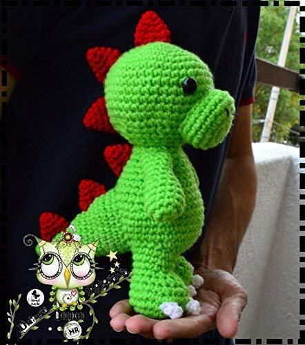 DRAGON AMIGURUMI PERSONALIZABLE ( Bebé, crochet, ganchillo, muñeco, peluche, niño, niña, lana, mujer, hombre ) MODA, ORIGINAL, FANTASÍA
