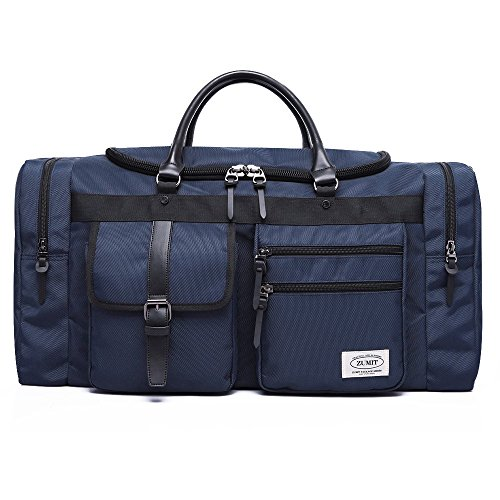 90bf69828718 ZUMIT Travel Duffel Bag Business Weekend Tote Gym Sports Foldable Canvas  Water-Resistant Luggage Bag 45L 60L  806 - Buy Online in KSA.