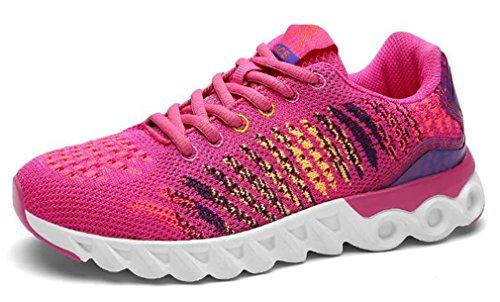 Rose pour Sport Walk femmes Run Athlétique Chaussures NEWZCERS Chaussures hommes Gym 5wvSxq
