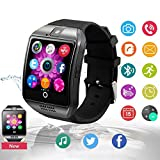 Bluetooth Smartwatch Touchscreen with Camera, Smart Watch for Android iOS iPhones, Smart Watches Waterproof Smart Wrist Watch Phone Compatible with Android iPhone X 8 7 6 6S 5 Plus Mens and (Black)
