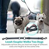 Retractable Dog Leash, TaoTronics Double Leash with Coupler for Two Dogs, Hands Free Waist Belt Leash, Two Soft Padded Handles, Dual Bungees, Reflective Stripes for Large Dogs up to 150 lbs