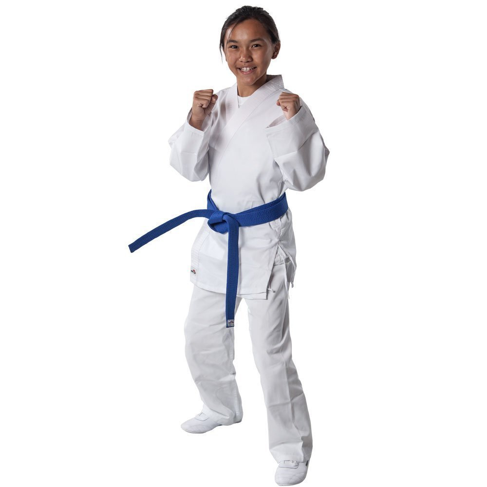 Tiger Claw 7.5 oz White Student Karate Uniform (White, Size 0000 (30/35 lbs)) by Tiger Claw