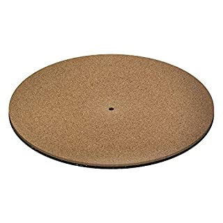 Vinyl Record Cork and Rubber Slipmat By KAIU – Turntable Mat For Vinyl Records Provides Better Grip – Premium 12inch Cork Base Improves Sound Quality & Performance (Cork/Urethane)