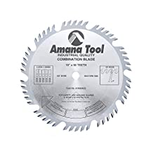 Amana Tool 610504 Combination 10-Inch x 50 Tooth 4ATB+1 Raker  5/8-Inch Bore Saw Blade