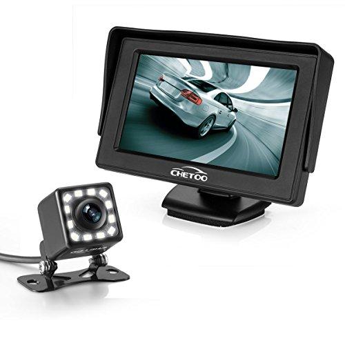 Achteruitrijcamera auto achterzicht met nachtzicht 12 LED 170° hoek waterdicht achteruitrijsysteem + 4,3 inch LCD…