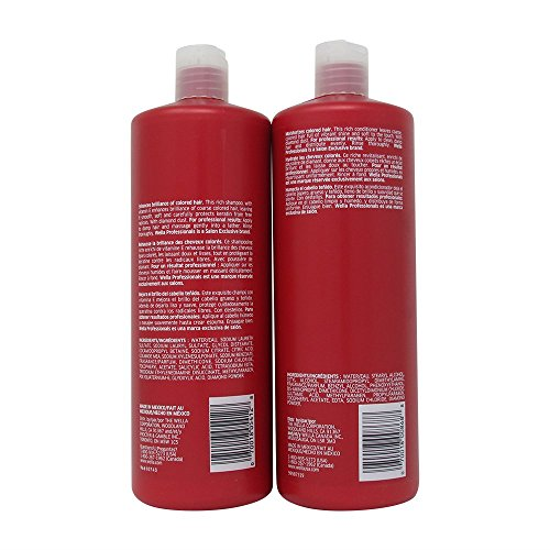 WELLA Brilliance Shampoo Conditioner Coarse Colored HairLiter Duo 338 Oz
