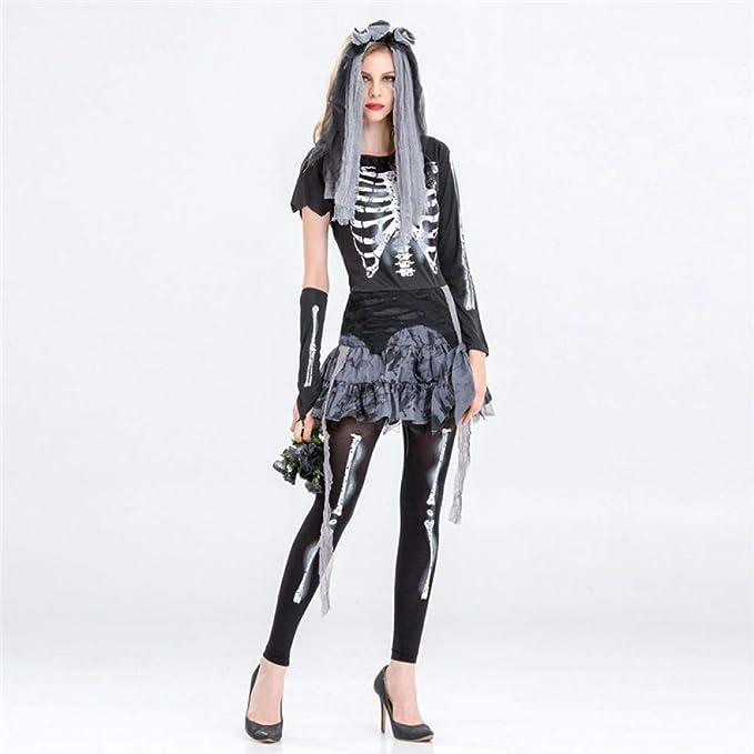 ERFD&GRF Disfraces de Halloween para Mujeres Fantasma Novia ...