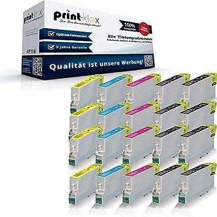 20 x XL Cartuchos de tinta para Epson Stylus D 68 D68PE D 88 D88 PE