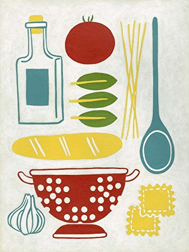 Sunday Dinner by Chariklia Zarris Art Print, 17 x 22 inches -