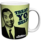 Parks and Recreation Tom Haverford Treat Yo Self Workplace Comedy TV Television Show Ceramic Gift Coffee (Tea, Cocoa) Mug, 11 Ounce