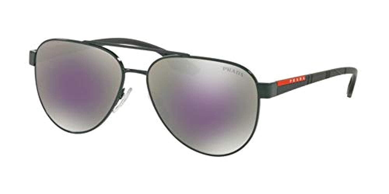 5696840ce9 Sunglasses Prada Linea Rossa PS 54 TS 289297 GREEN at Amazon Men s Clothing  store