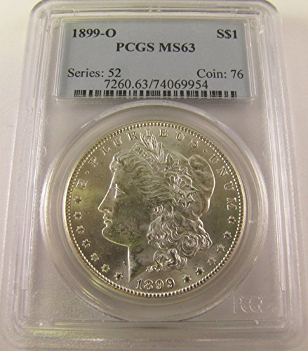 1899 O Morgan Silver Dollar $1 MS63 PCGS