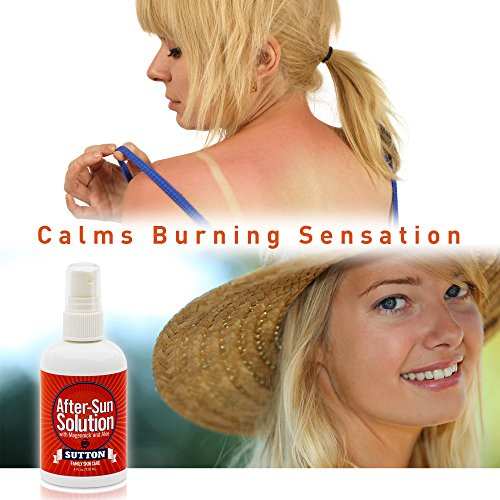 Sunburn Relief Spray Premium After-Sun Solution Soothes Skin Over-Exposed to The Sun. Easy Glycerin-Based Spray-On with Squalene, Urea and Allantoin Moisturizing Factors for Natural, Healthy Skin. by Sutton Family Skin Care (Image #4)