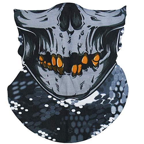 (Obacle Skull Mask for Men Women Skull Bandana Skull Half Face Mask 3D Tube Balaclava Breathable Sun Mask for Fishing Running Hunting Cycling Motorcycle Bike Hiking Climbing Festival Outdoor Sports)