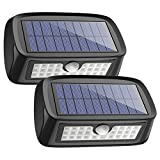 HOME_LIGHTING_AND_LAMPS  Amazon, модель Solar Lights Waterproof 26 LED Wall Light Outdoor Security Night Lighting with Motion Sensor Detector for Patio Deck Yard Garden Lawn Back Door Step Stair Driveway Pool Fence Porch, Pack of 2, артикул B075L5CVLM