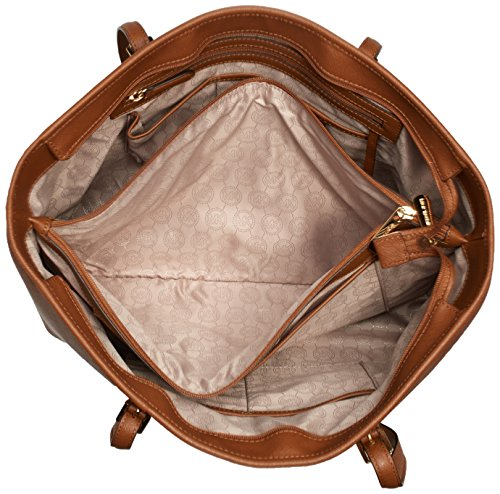 Michael KorsJet Set Travel Saffiano Leather Top-Zip Tote - Bolsa de Asa Superior Mujer Marrón (Luggage)