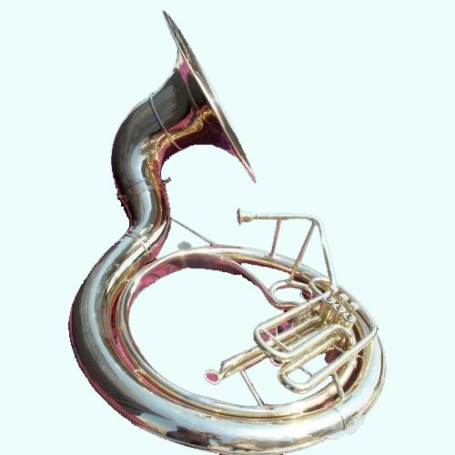 Global Art World Brass Finish Sousaphone 25 Valve Big Tuba Made Of Full Brass With Bag MI 079 by Global Art World