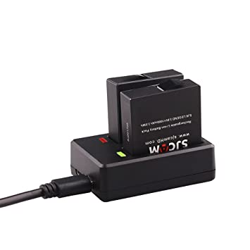SJCAM 2 Baterías y un cargador doble adecuado para SJCAM SJ6 LEGEND Deportes Cámara / SJ6 LEGEND Acción Accesorios de cámara (2 baterías + un cargador ...