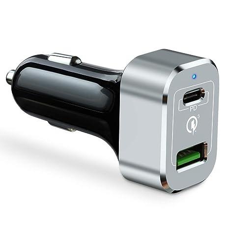 Amazon.com: Cargador de coche Capshi 63W USB Tipo C PD ...