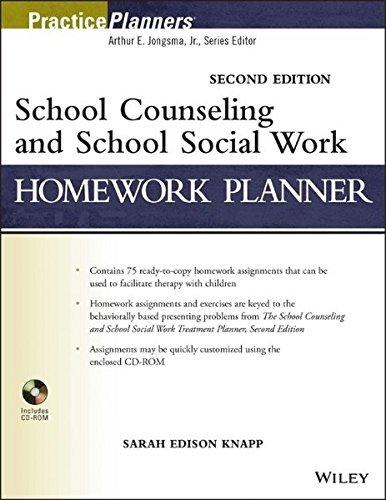 School Counseling and School Social Work Homework Planner by Sarah Edison Knapp (2013-08-12)