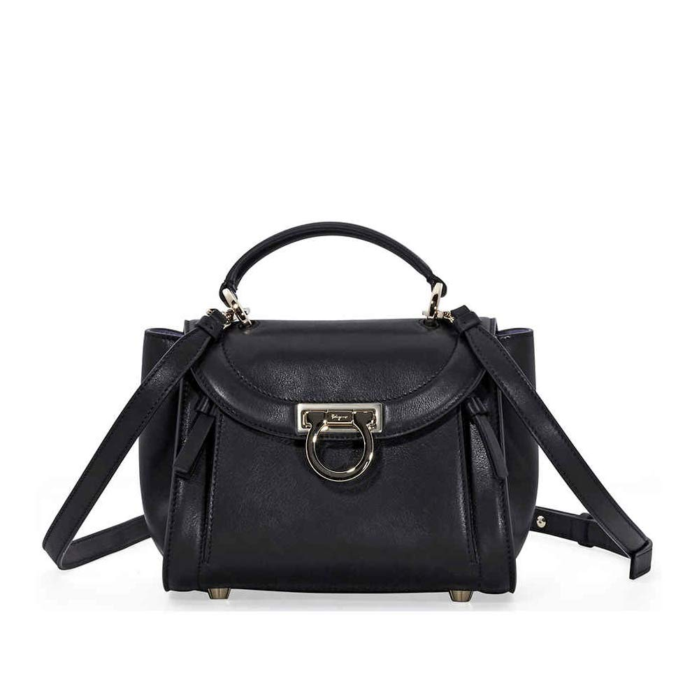 2b196252219e Amazon.com  Salvatore Ferragamo Sofia Rainbow Leather Crossbody Bag- Black   Shoes