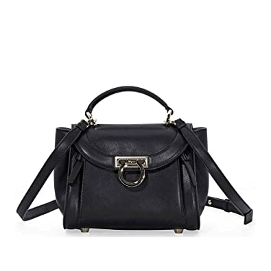 36ddb79ebcf0 Image Unavailable. Image not available for. Color  Salvatore Ferragamo  Sofia Rainbow Leather Crossbody Bag- Black