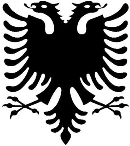 Autocollant Albanie-Italie Drapeau Drapeau 8 x 5 cm des autocollants autocollant