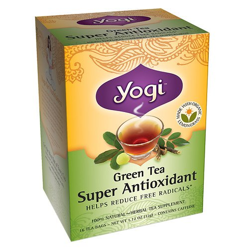 Yogi Tea Green Tea Super Antioxidant, Herbal Supplement, Tea Bags, 16 ct, 2 pk