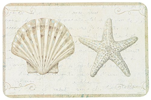 Set-of-4-Coastal-Beauty-Reversible-Placemats-Starfish-and-Shell-Theme-Placemats-Reversible-Washable-Plastic