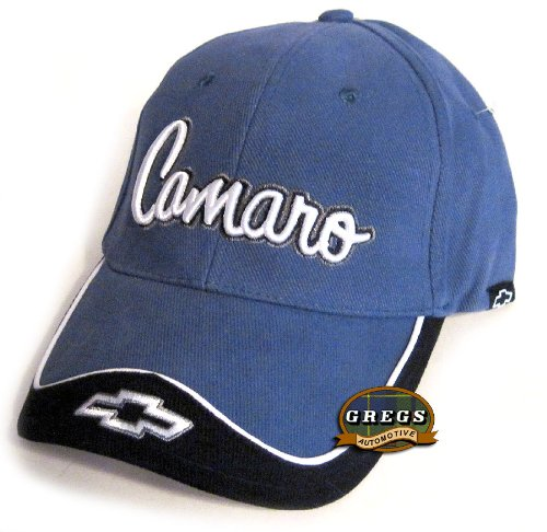 Camaro Hat Cap Blue/Black Chevrolet Chevy Includes Racing Decal