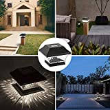 Solar Post Cap Lights Outdoor- 4 Pack LED Fence