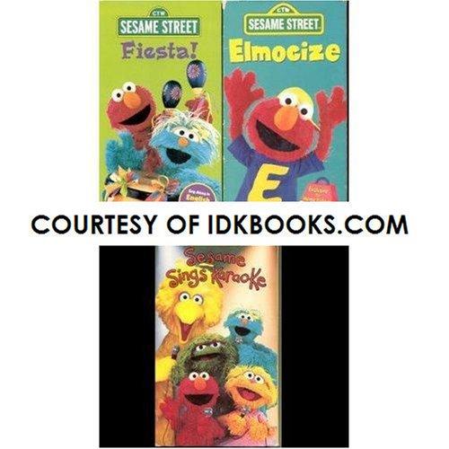 **3-PACK: Sesame Street - Fiesta! (English and Spanish); Elmocize; Sesame Sings Karaoke *SHIPS SAME DAY* IDK Bundles ()