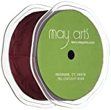 Silky Crushed Ribbon 1-1/2''X50 Yards-Burgundy