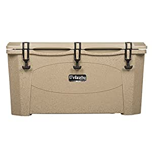 Grizzly Coolers Tailgating Cooler, Sandstone/Tan, 75-Quart