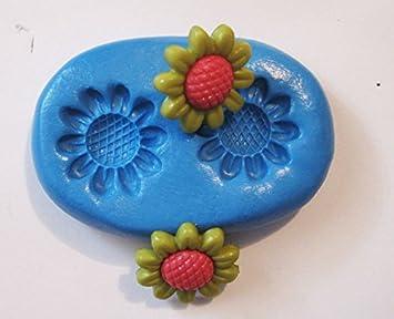 Flores con molde de silicona flexible de calidad alimentaria para arcilla polimérica, resina, cera, comida en miniatura, dulces, yeso: Amazon.es: Hogar