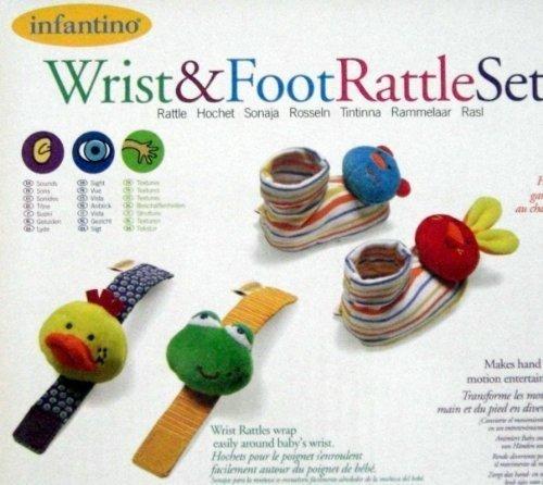 Infantino Wrist Frog Bunny Rattle product image