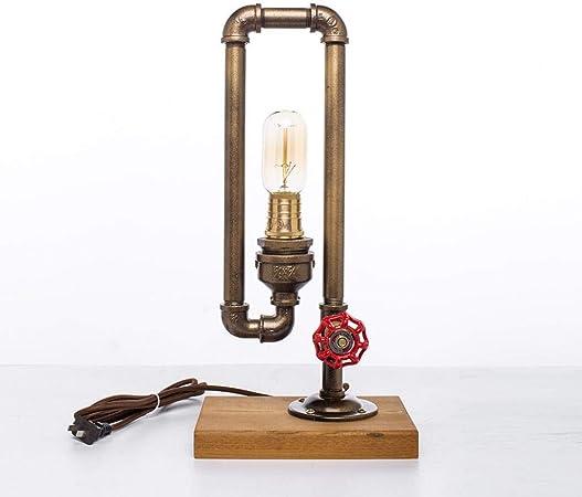 SYG Lampe de Table Vintage Industrielle Lampe de Tube d'eau