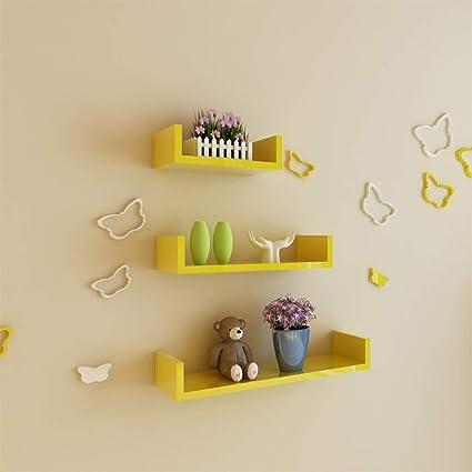 Shelves Xiaomei Partition Wall Hanging U Shaped Bookshelf TV Background Creative Rack