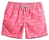 MaaMgic Mens Quick Dry Short Swim Trunks With Mesh Lining Swimwear Bathing Suits,New-g5-ms092-pink,Medium