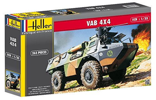 Heller VAB 4X4 Transport Military Land Vehicle Model Building Kit