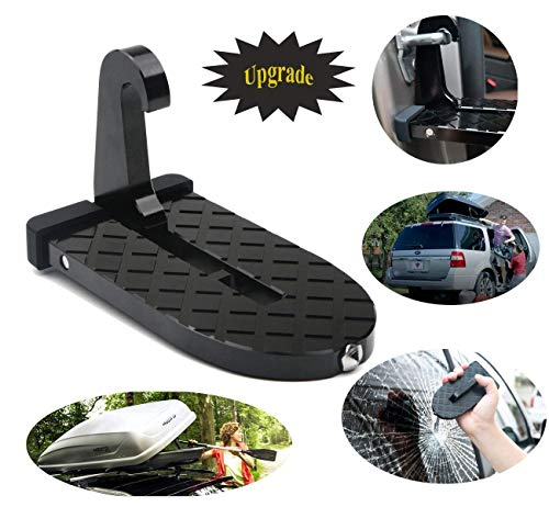 (1byhome Car Door Step Vehicle Doorstep Folding Ladder Foot Pegs Easy Access to Car Rooftop with Safety Hammer for Jeep Car SUV)