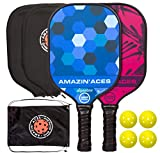 Amazin' Aces Signature Pickleball Paddle | USAPA Approved | Graphite Face & Polymer