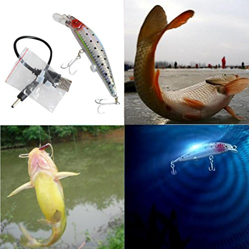 Lisingtool Useful Rechargeable Twitching Fishing Lures Bait & USB