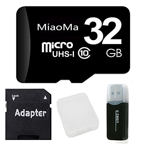 MiaoMa 32GB micro memory card Class 10 UHS-I 95MB/s with Card Reader for Phones,Camera,Car DVR,MAC,mp3 player,Tablets and PCs (Memory Cards For Phones 32 Gb)