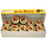 MAZAPAN DE LA ROSA / PEANUTS CANDY MARZIPAN MEXICAN CANDY 60 PCS WITH 12.5 GRS Mexican Candy with Free Chocolate Kinder Bar Included